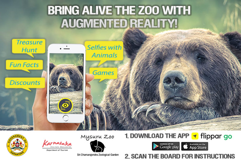 One of the things to do in Mysore is to visit the Mysore Zoo and experience the place in AR using FlippAR Go.